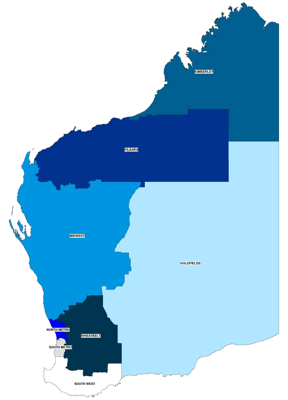 Australia Map Regions.Education Region Map